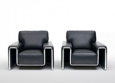 leather, black, chrome, furniture, chairs - random desktop wallpaper
