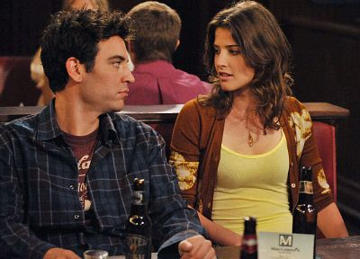 beers, Cobie Smulders, How I Met Your Mother, Robin Scherbatsky, Josh Radnor - random desktop wallpaper