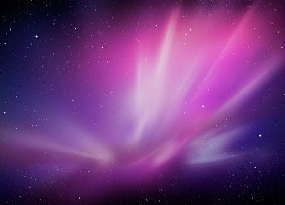 abstract, stars, aurora borealis, space - random desktop wallpaper