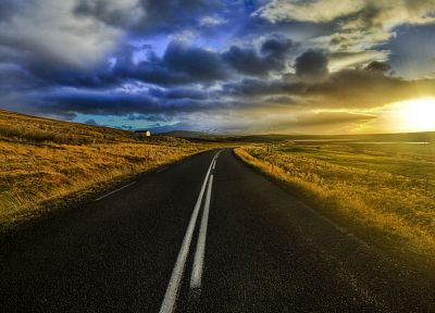 clouds, landscapes, nature, roads, skyscapes - related desktop wallpaper
