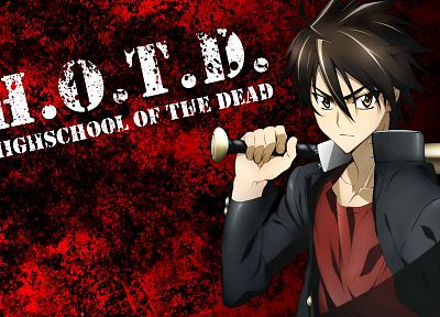 Highschool of the Dead, Komuro Takashi - random desktop wallpaper