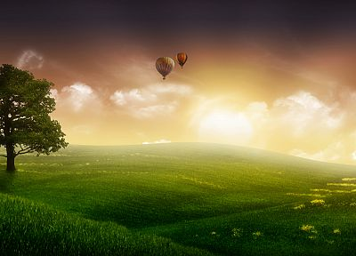 landscapes, hot air balloons - random desktop wallpaper