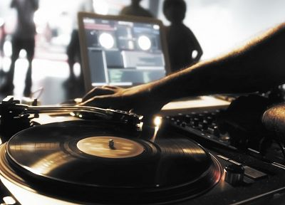 music, mixing tables, DJs, Disco, record player - related desktop wallpaper