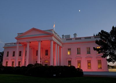 The White House, glow, White House - random desktop wallpaper