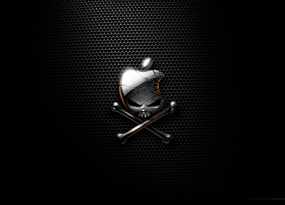 Apple Inc., skull and crossbones, logos - random desktop wallpaper