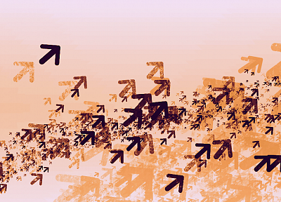 abstract, swarm, flock, arrows - random desktop wallpaper