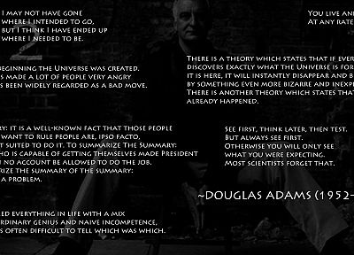 quotes, Douglas Adams - random desktop wallpaper