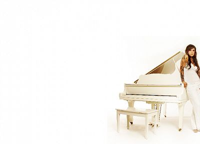 tattoos, piano, Kate Voegele - random desktop wallpaper