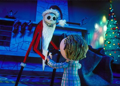 movies, Christmas, skeletons, Santa Claus, The Nightmare Before Christmas - related desktop wallpaper