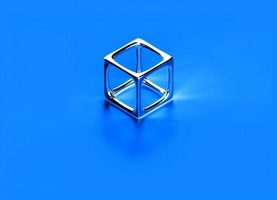 blue, cubes - random desktop wallpaper