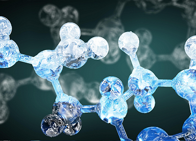 abstract, molecule, chemistry, structure - desktop wallpaper