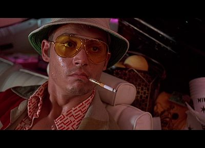 movies, Fear and Loathing in Las Vegas, Las Vegas, hunter, screenshots, Johnny Depp, cigarettes - related desktop wallpaper