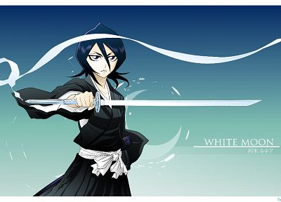 Bleach, Kuchiki Rukia, zanpakuto, Sode no Shirayuki - random desktop wallpaper