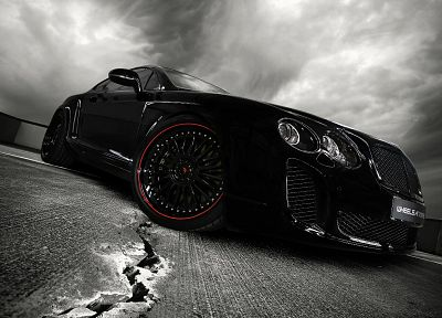cars, Bentley, vehicles, supercars, black cars, Wheelsandmore, Bentley Continental Ultrasports 702 - random desktop wallpaper