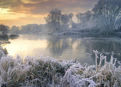 United Kingdom, The River, frost - random desktop wallpaper