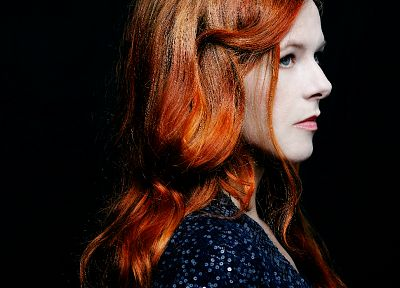 redheads, singers, black background, Neko Case - desktop wallpaper