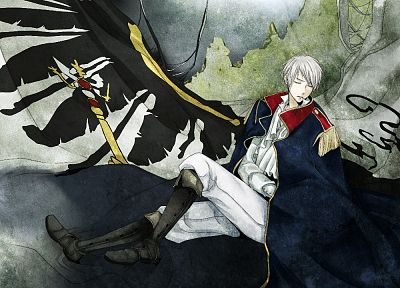 boots, flags, anime, Prussia, white hair, Axis Powers Hetalia - related desktop wallpaper