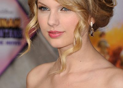 blondes, women, blue eyes, Taylor Swift, celebrity, curly hair, faces - related desktop wallpaper