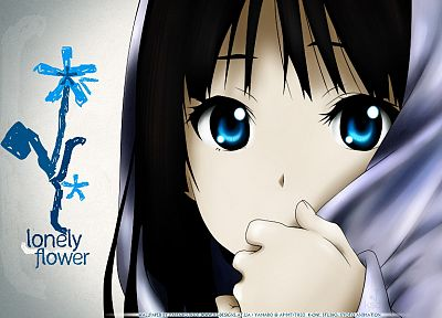 K-ON!, blue eyes, Akiyama Mio, drawings, black hair - related desktop wallpaper