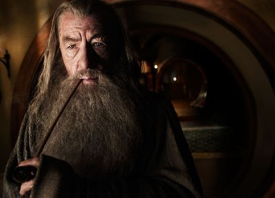 movies, Gandalf, The Lord of the Rings, The Hobbit, pipes, Ian Mckellen, Bag End - random desktop wallpaper