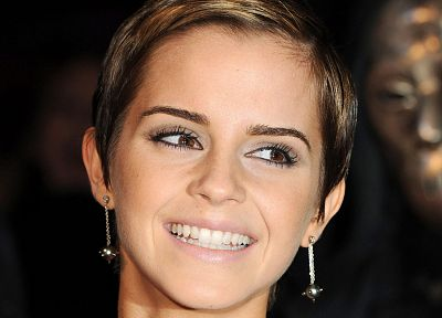 women, Emma Watson, earrings, faces - random desktop wallpaper