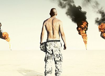 oil, movies, Iraq, jarhead - random desktop wallpaper