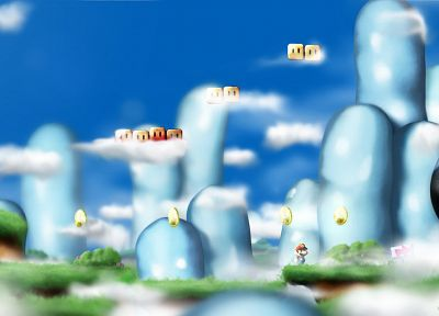 Mario - random desktop wallpaper