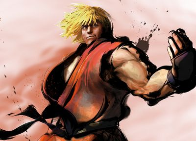 video games, Street Fighter, Ken Masters - random desktop wallpaper