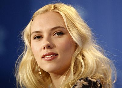 blondes, women, Scarlett Johansson, actress, faces - random desktop wallpaper