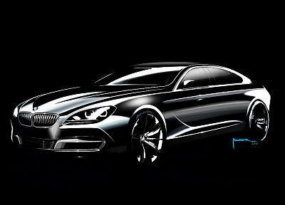 cars, design, sketches, coupe, BMW 6 Series - related desktop wallpaper