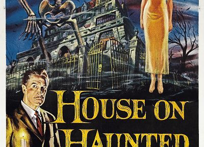 movie posters, House on Haunted Hill, Vincent Price - random desktop wallpaper