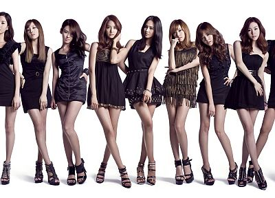 women, Girls Generation SNSD, celebrity, high heels, Asians, Seohyun, Korean, singers, Jessica Jung, Kim Taeyeon, Kwon Yuri, Im YoonA, Kim Hyoyeon, Choi Sooyoung, black dress, K-Pop, Lee Soon Kyu, simple background, Tiffany Hwang - desktop wallpaper