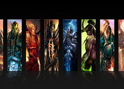 World of Warcraft, Lich King, deathwing, thrall, Sylvanas Windrunner, vol'jin, cairne bloodhoof - random desktop wallpaper