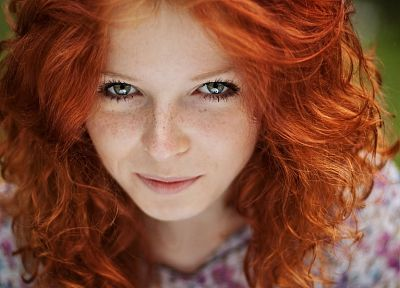 women, redheads, faces - desktop wallpaper