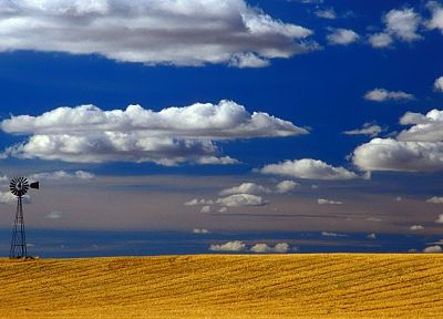 clouds, Sky-Doll, windmills, Washington, skies - random desktop wallpaper