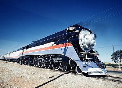 trains, vehicles, SP 4449 - random desktop wallpaper