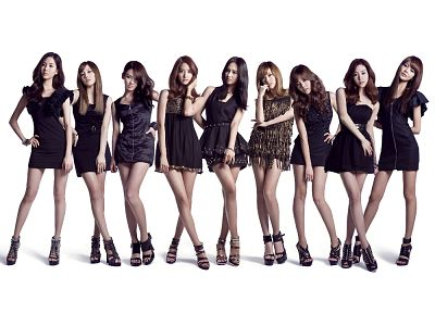 legs, women, Girls Generation SNSD, celebrity, high heels, Asians, Korean, black dress, music bands, bracelets, simple background - random desktop wallpaper