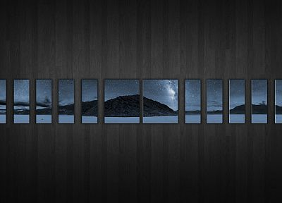 mountains, nature, night, stars, outdoors, mosaic, skyscapes - related desktop wallpaper