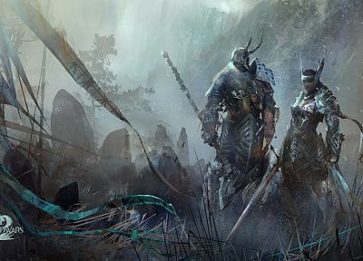 video games, artwork, MMORPG, Guild Wars 2 - related desktop wallpaper