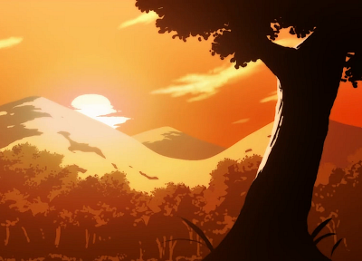 nature, Bakemonogatari, anime, anime girls - desktop wallpaper