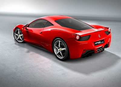 cars, Ferrari, vehicles, Ferrari 458 Italia, rear angle view - related desktop wallpaper
