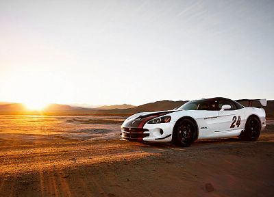 Sun, sand, cars, deserts, vehicles, Dodge Viper, Dodge Viper SRT-10 ACR - related desktop wallpaper