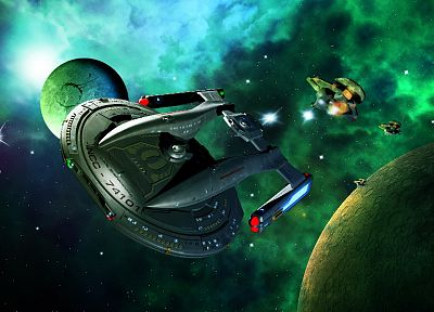 Star Trek, spaceships, vehicles, shenandoah - desktop wallpaper