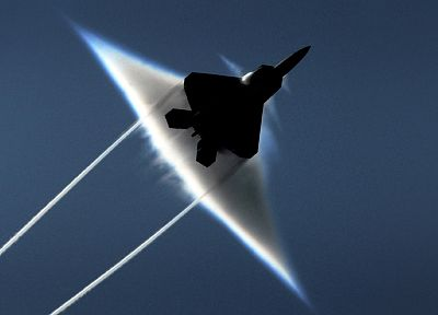 aircraft, F-22 Raptor, planes, Sonic Boom - desktop wallpaper