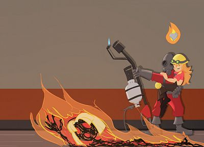 Engineer TF2, Pyro TF2, Team Fortress 2 - random desktop wallpaper