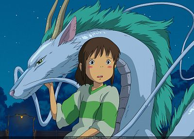 dragons, Spirited Away, Ogino Chihiro, Kohaku, Studio Ghibli - random desktop wallpaper