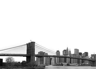 bridges, New York City, city skyline - random desktop wallpaper