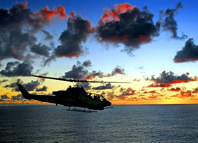 sunset, helicopters, vehicles - random desktop wallpaper