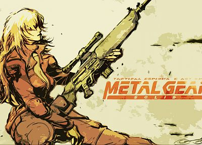 Metal Gear Solid, sniper wolf - random desktop wallpaper