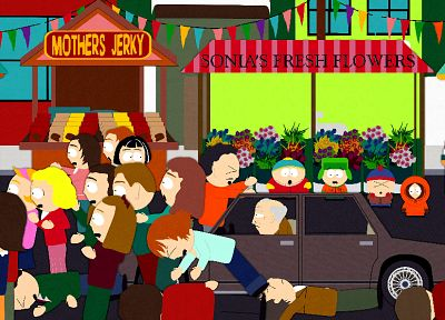 South Park, Eric Cartman, Stan Marsh, old people, Kenny McCormick, Kyle Broflovski - random desktop wallpaper